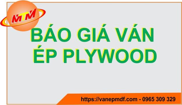 Báo giá ván ép Plywood