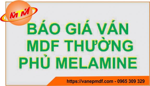 Báo giá ván mdf thường phủ melamine